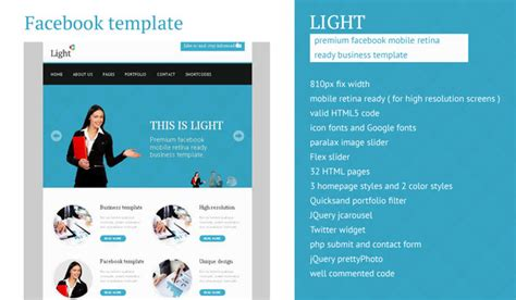 themeforest preview image size light facebook business high resolution template by