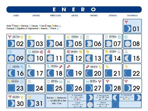 Calendario Enero 2007 Plenilunios Calendarios Lunares 2012 Creer Para Crear
