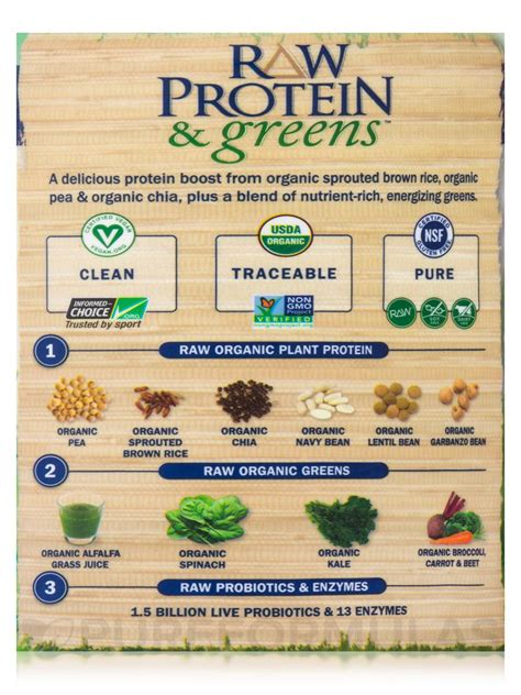 Garden Of Protein And Greens Protein And Greens Vanilla 19 3 Oz 548 Grams