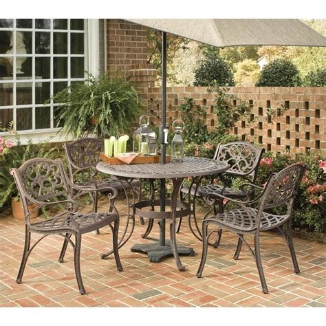 5 Piece Metal Patio Dining Set In Bronze 5555 308 5 Patio Dining Sets