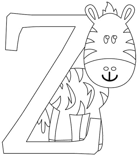 Z Zebra Coloring Page by Z Is For Zebra Coloring Page Coloring