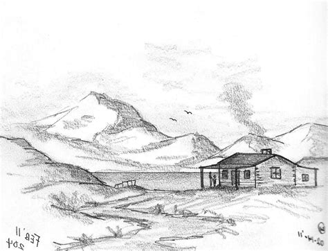 Sketches Mountains by Mountains Drawing Search Mountains