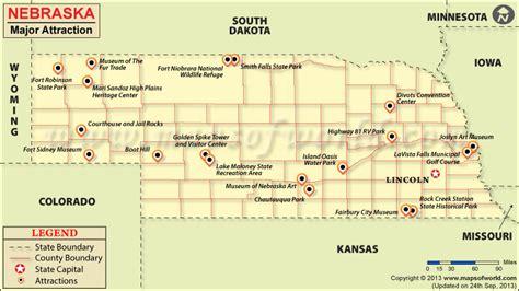 usa map nebraska places to visit in nebraska map of nebraska attractions