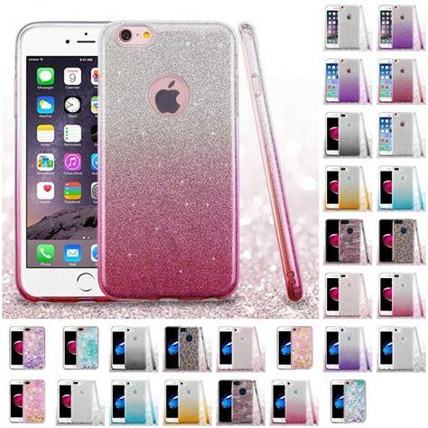 apple iphone   glitter hybrid tpu gradient