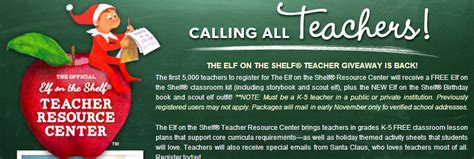 Free On The Shelf For Teachers by Free On The Shelf Storybook Classroom And New