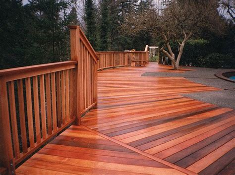 cedar deck choosing the right wood for your fence or deck