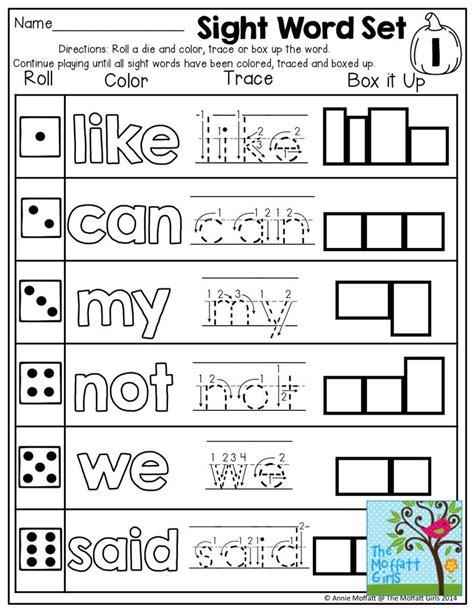 printable games to learn sight words 198 best word work images on pinterest kindergarten