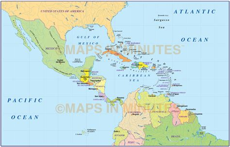 america and caribbean map central america political map memes