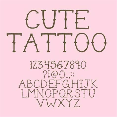 handy collection of attractive tattoo fonts for designers