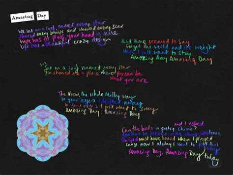coldplay kaleidoscope lyrics amazing day coldplayメンバーによる解説日本語訳 歌詞 バック トゥ ザ フューチャーの影響