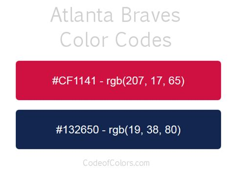 braves colors atlanta braves colors hex and rgb color codes