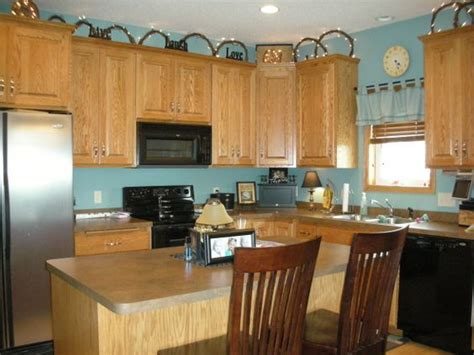 Blue Kitchen Walls With Brown Cabinets Light Turquoise Kitchen Walls With Brown Cabinets Not This Blue New Kitchen