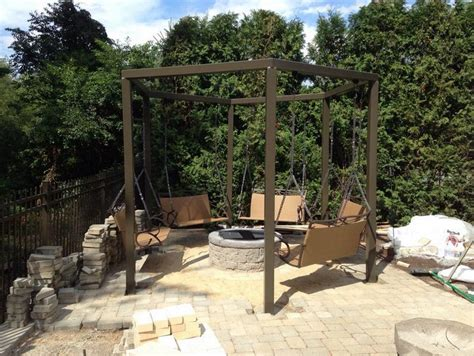hexagon fire pit swing fire pit swing sets the owner builder network