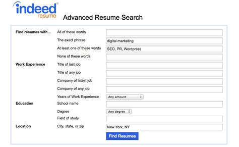 Indeed Resume Search by How To Use Indeed Resume Search