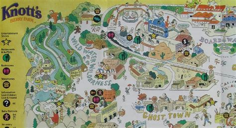 knotts berry farm map newsplusnotes knott s berry farm 1997 map
