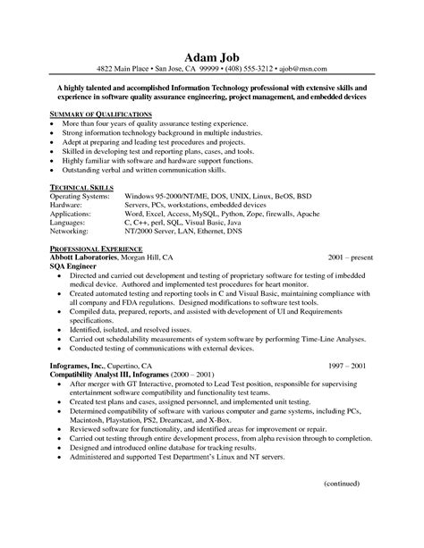 quality resumes quality control resume samples quality engineer