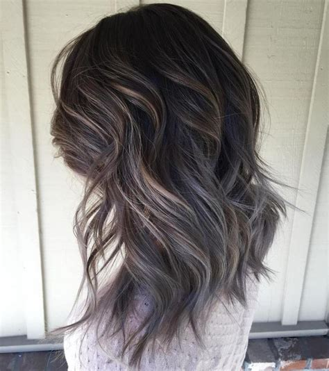 grey highlights in dark hair 25 best ideas about grey brown hair on pinterest ash
