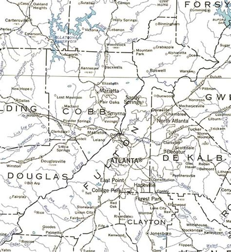 map of fulton county georgiainfo