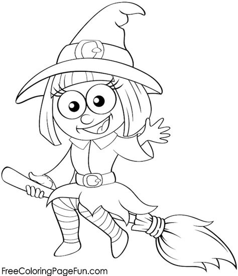 halloween coloring pages witch on broom free halloween coloring pages halloween witch on broom