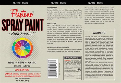 Spray Paint Label On Behance Paint Can Label Template
