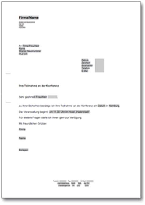 Musterbrief Einladung Tagung Best 228 Tigung Einer Konferenzteilnahme At Musterbrief