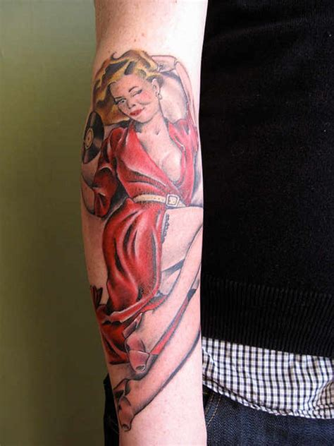 pin up name tattoo ideas 50 cool forearm tattoos for men women