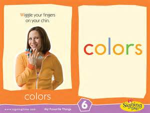 sign language for colors sign of the week color signing time
