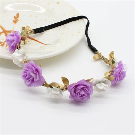 pink flower crown headband baby flower crown flower aliexpress buy wholesale wedding flower