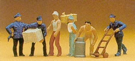 Preiser 10578 Delivery With Loads preiser delivery loads pack of 6 figures 1 87 14016