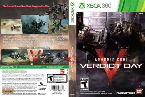 Bd Ps3 Kaset Armored Verdict Day armored verdict day xbox 360 box cover by malavan2000