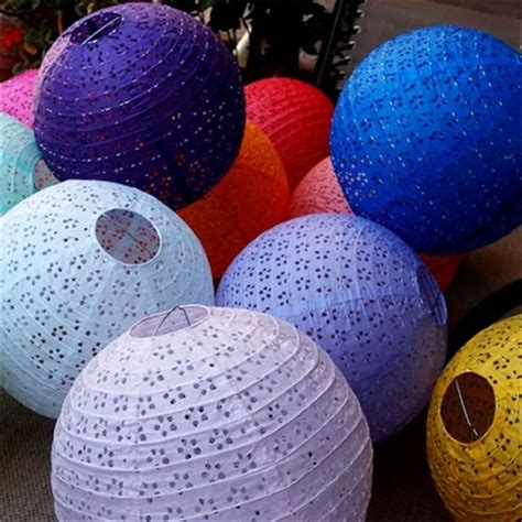 floral pattern paper lanterns eyelet lace look paper lanterns eyelet paper lanterns