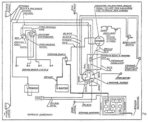 electrical wiring diagram for 1928 chevrolet passenger