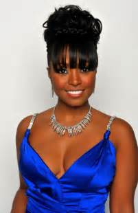 images of black braided bunstyle with bangs in back hairstyle elegant braided updos for black women best medium hairstyle
