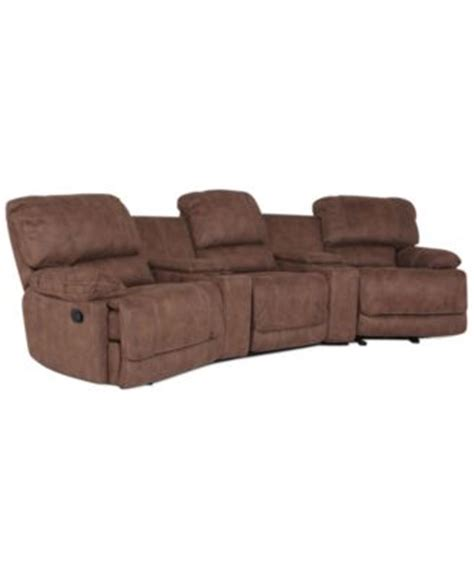 jedd fabric sectional jedd fabric 6 piece home theatre sectional sofa