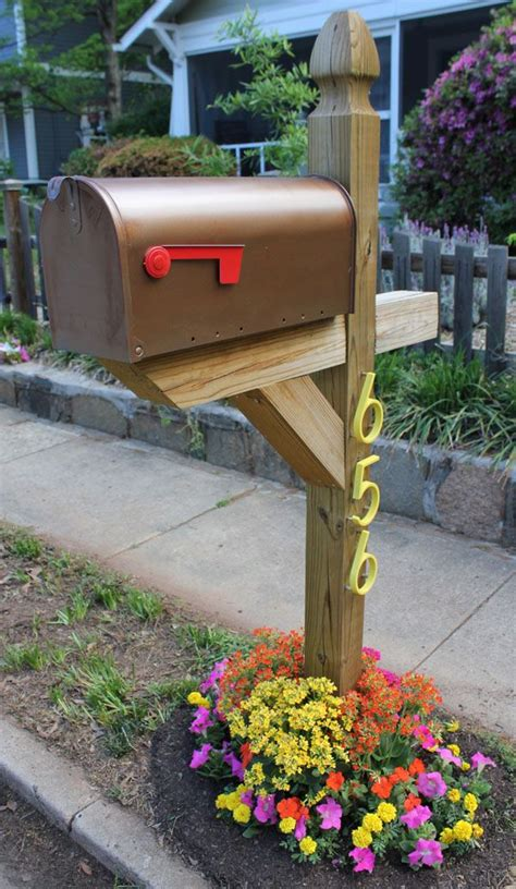curb appeal mailbox mailbox with new numbers and flowers garden ideas