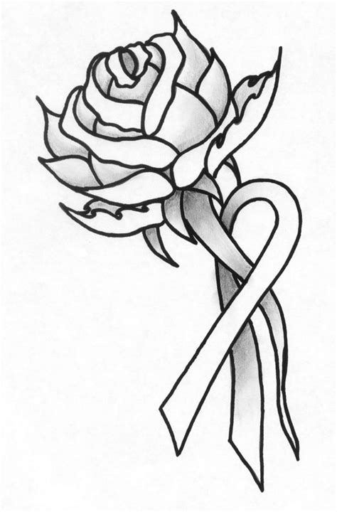 rose tattoo with breast cancer ribbon 8 best bc possibilities images on