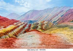colorful mountains danxia stock photos danxia stock images alamy