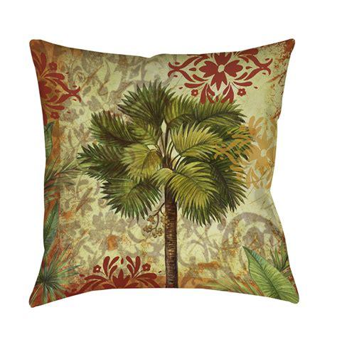 decorative throw pillows thumbprintz palm pattern v decorative throw pillow ebay