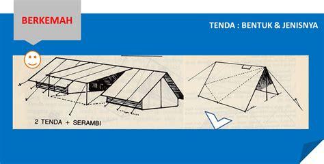 Tenda Kemah berkemah tenda bentuk jenisnya ensiklopedia pramuka
