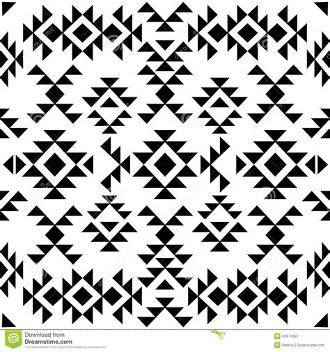 pattern clipart black and white seamless black and white navajo pattern vector