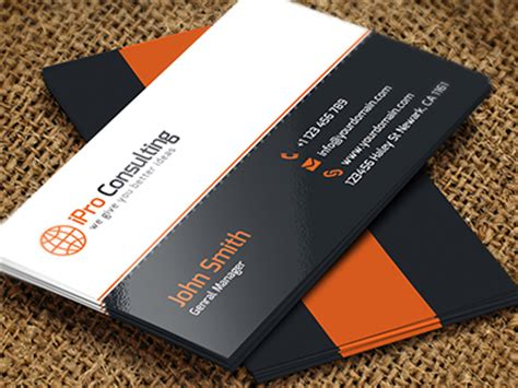 best consulting business card template free 55 best psd business card templates designbump