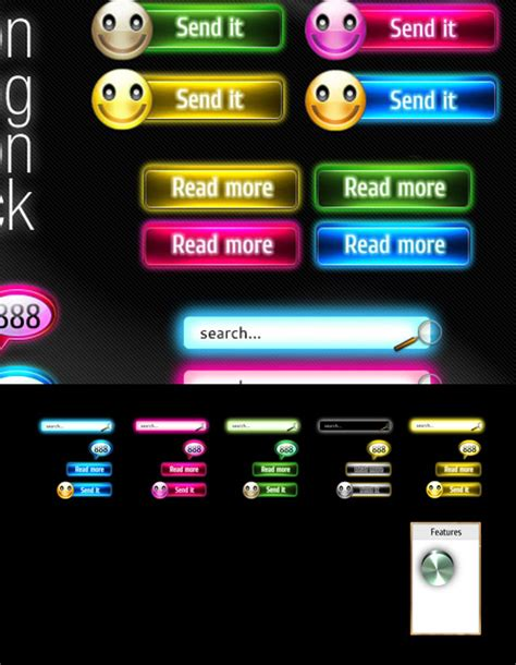 Theme Shock Neon Buttons 187 Vector Photoshop Psdafter Effects Tutorials Template 3d Adobe Sts Templates