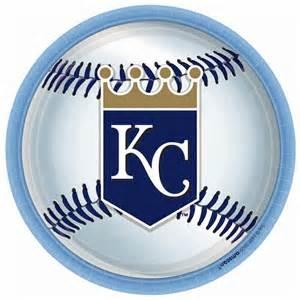 kansas city royals baseball round dinner plates