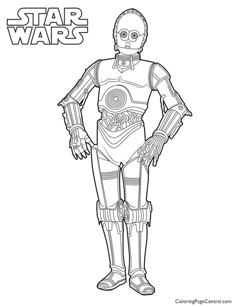 C 3po Coloring Pages by Wars C 3po Coloring Page Coloring Page Central