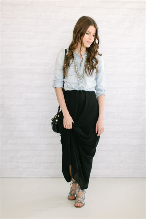 8 ideas what to wear with a black maxi skirt