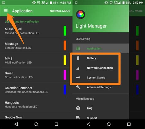 flashlight notification app for android a guide to customizing android phone notification light emgi
