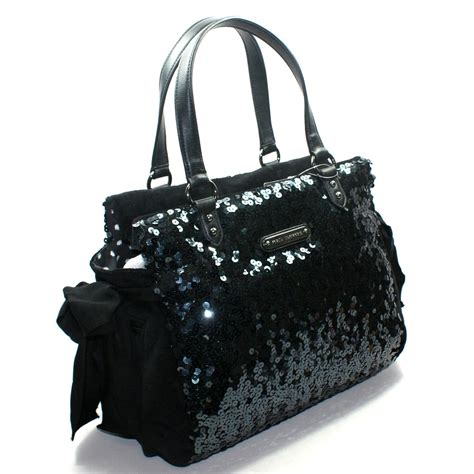 Juicy Couture Black Sequin Daydreamer Shoulder Bag #YHRUO012   Juicy Couture YHRUO012
