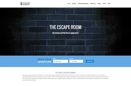 Joomla Time Template For Vik Appointments Websites Escape Room Website Template