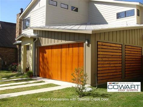Carport With Garage Door cowart door carport conversion modern garage and shed by cowart door systems