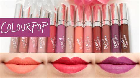 Colourpop Ultra Matte Liquid Lipstick Foxy Mini Kitssets colourpop ultra matte liquid lipstick lip swatches 13